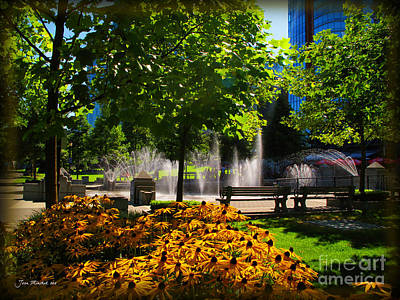 Photograph - Downtown Seattle Park by Joan  Minchak