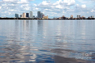 Downtown Tampa Over Hillsborough Bay Art Print