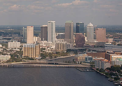 Photograph - Downtown Tampa Skyline by John Black