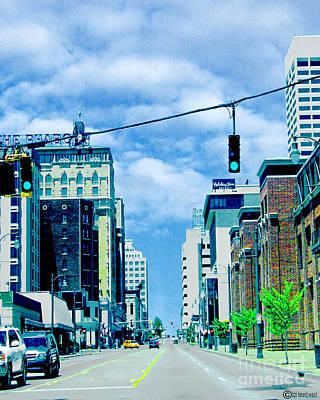 Digital Art - Downtown Union Ave Memphis Tn by Lizi Beard-Ward