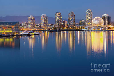 Downtown Vancouver Across The Water Art Print by Bryan Mullennix