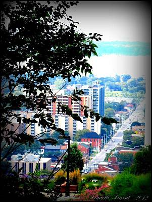 Art Print featuring the photograph Downtown View From Hamilton Mountain  by Danielle  Parent