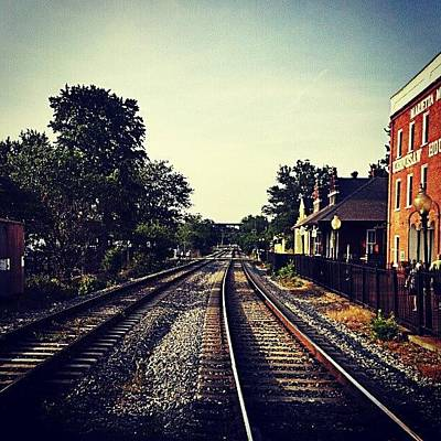 Track Wall Art - Photograph - #dowtown #marietta. Shot With #droid by Mike Dunn