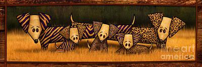 Dachshund Art Mixed Media - Doxie Pride by Shevon Johnson