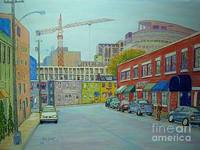 Doyle Street Halifax Art Print by Rae  Smith PSC