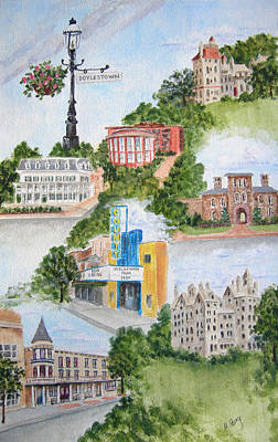 Painting - Doylestown Collage by Margie Perry