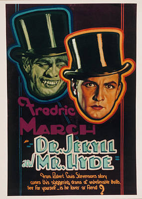 Dr. Jekyll And Mr. Hyde, Fredric March Art Print by Everett