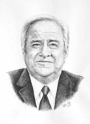 Drawing - Dr. Jerry Falwell by Mike Ivey