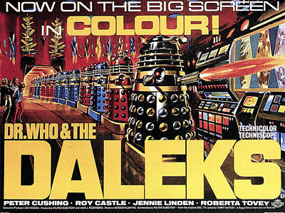 Dr Who Photograph - Dr. Who And The Daleks, Poster, 1965 by Everett
