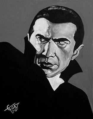 Bela Painting - Dracula by Tom Carlton