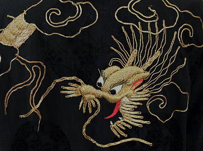 Chinese Embroidery Photograph - Dragon - 1 by Jeffrey Peterson