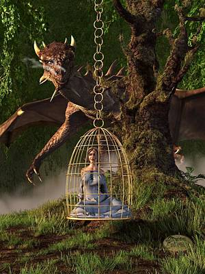 Fantasy Royalty-Free and Rights-Managed Images - Dragon Bait by Daniel Eskridge