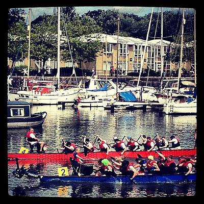 Dragon Photograph - #dragon #boat #race #river #ribble by Laura Hindle