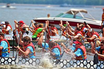 Print featuring the photograph Dragon Boat Regatta 2 by Jim Albritton