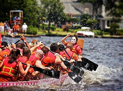 Print featuring the photograph Dragon Boat Regatta  by Jim Albritton
