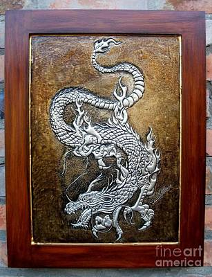 Metal Embossing Relief - Dragon by Cacaio Tavares
