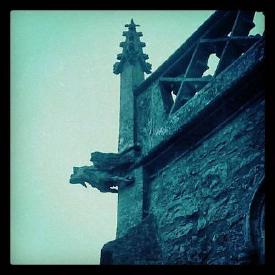 Dragon Photograph - #dragon #gothic #church #wsm by Kevin Zoller