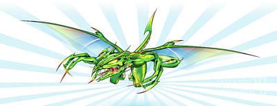 Drawing - Dragon V2 by Brian Gibbs