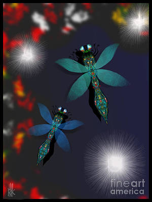 Digital Art - Dragonflies by J Kinion