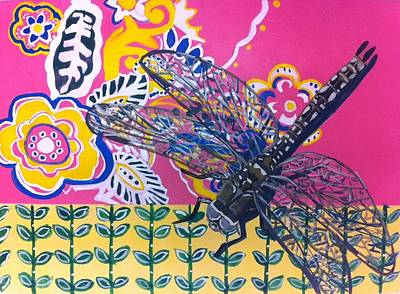 Dragonfly Art Print by Amy Reisland-Speer