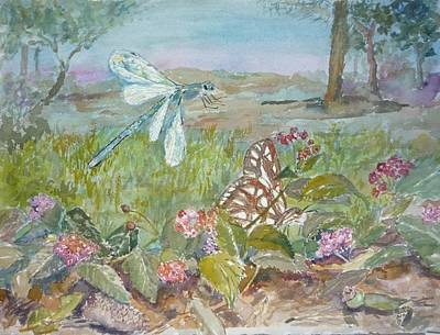 Painting - Dragonfly by Dorothy Herron
