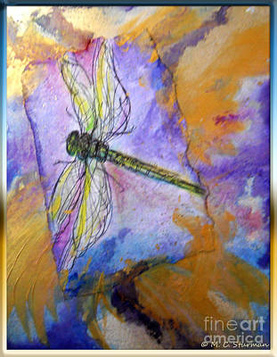 Painting - Dragonfly Dreams by M C Sturman