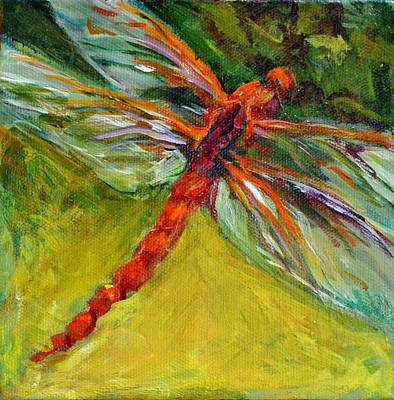 Painting - Dragonfly In Amber by Nanci Cook