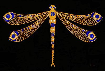 Macro Drawing - Dragonfly by Kume Bryant