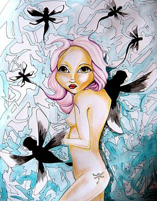 Free Form Drawing - Dragonfly Release by Victoria Dietz