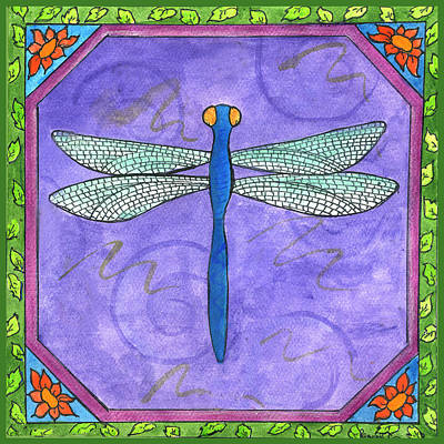 Painting - Dragonfly Two by Pamela  Corwin