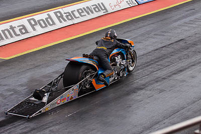Photograph - Dragster Motor Bike by Ken Brannen