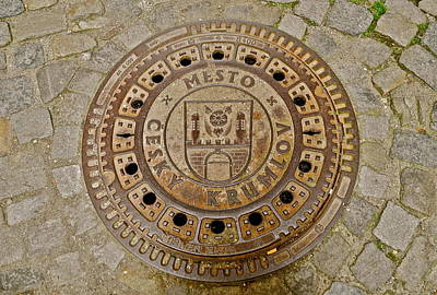 Photograph - Drain Cover For Cesky Krumlov by Kirsten Giving