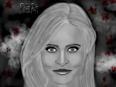 Emily Procter Digital Art - Drama Csi Miami by Mathieu Lalonde