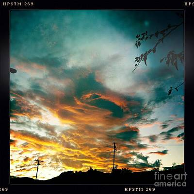 Art Print featuring the photograph Drama In The Sky by Nina Prommer
