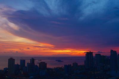 Manila Photograph - Dramatic Sky Manila Bay by Arj Munoz