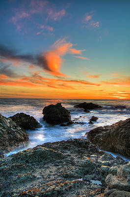 Dramatic Sunset Art Print by Chasethesonphotography