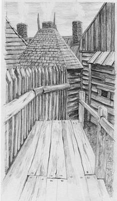 Photograph - Drawing Pacing The Defences At Port Royal Nova Scotia Canada by William OBrien