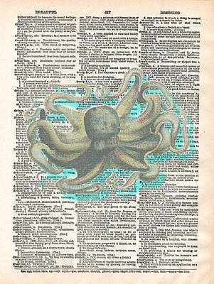 Jules Mixed Media - Dreadful Octopus 2 by Marcus  Jules