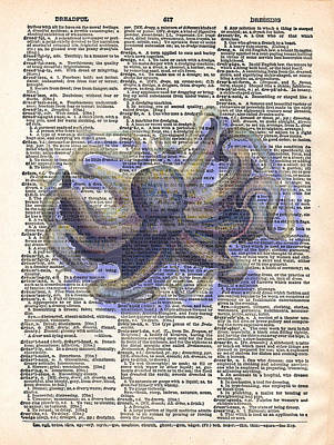 Jules Mixed Media - Dreadful Octopus by Marcus  Jules