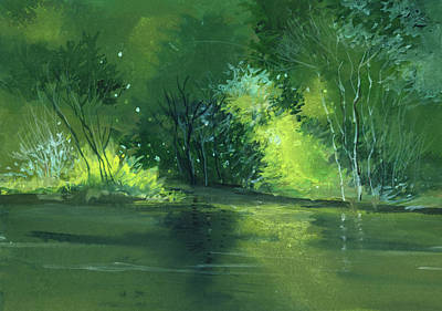 Christmas Holiday Scenery Painting - Dream 1 by Anil Nene