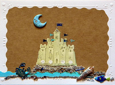 Sand Castles Mixed Media - Dream Castle by Gracies Creations