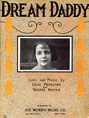 Old Sheet Music Photograph - Dream Daddy by Mel Thompson