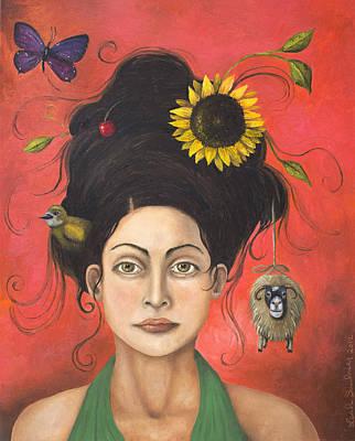 Dream Hair 2 Art Print by Leah Saulnier The Painting Maniac