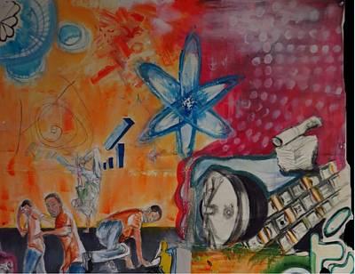 Atom Mixed Media - Dreamer Part 1 by Marcel Mateo