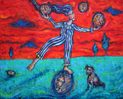 Painting - Dreaming About  Juggling   by Pablo Montes