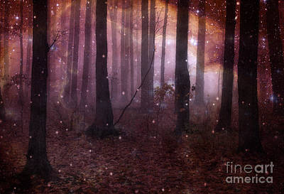 Dark Pink Photograph - Dreamland Surreal Fantasy Tree Woodlands by Kathy Fornal
