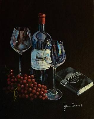 Italian Wine Painting - Dreams Of Paris by James Scrivano