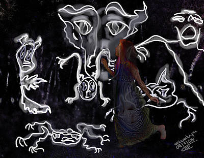 Haunted Digital Art - Dreamwalker Strange Encounters In Your Sleep by Mimulux patricia no No