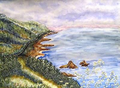 Dreamy Coast Art Print by DJ Laughlin