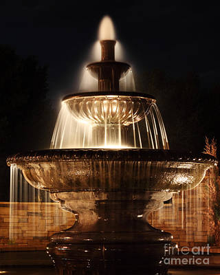 Dreamy Fountain Art Print by Val Armstrong